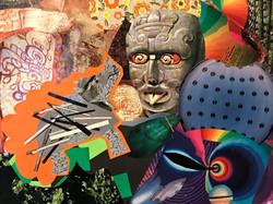 Kaleidoscopic Aztec Porcupine-Rhino Dreamworld