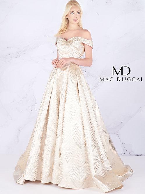 Mac Duggal Style# 66894M LightGold