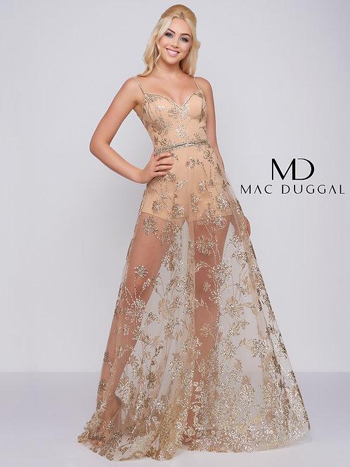 Mac Duggal Style# 48815A Gold
