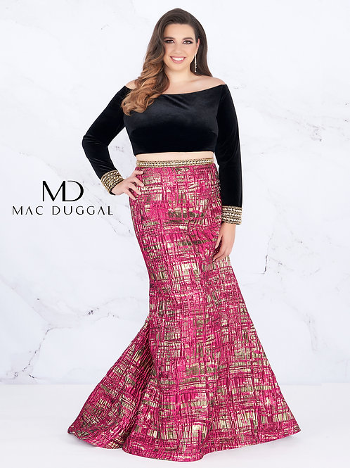 Mac Duggal Style# 66789F Mulberry