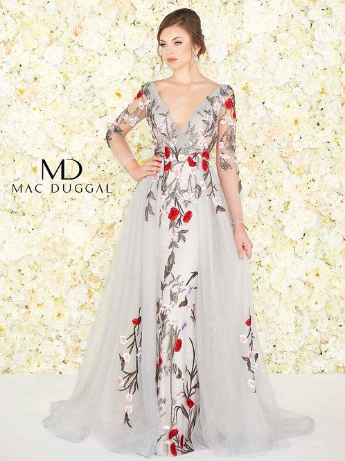 Mac Duggal Style# 20125D Gray Multi