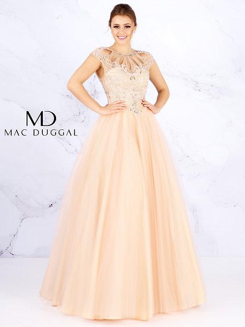 Mac Duggal Style# 40750H Peach