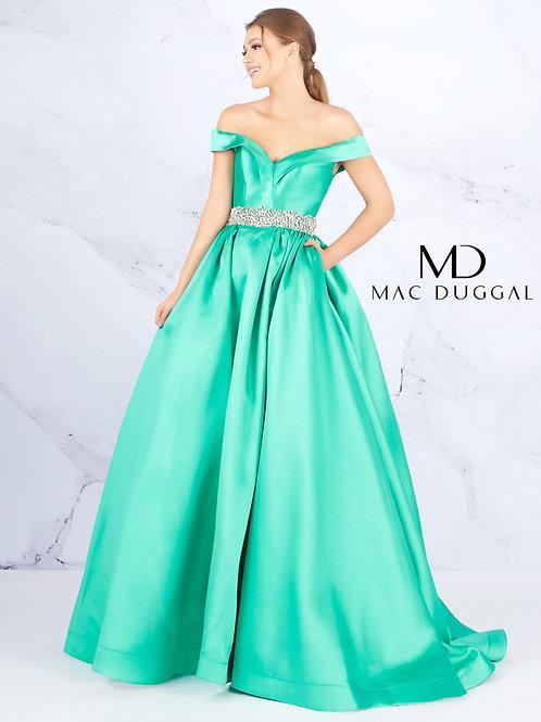 Mac Duggal Style# 66717H-WinterGreen