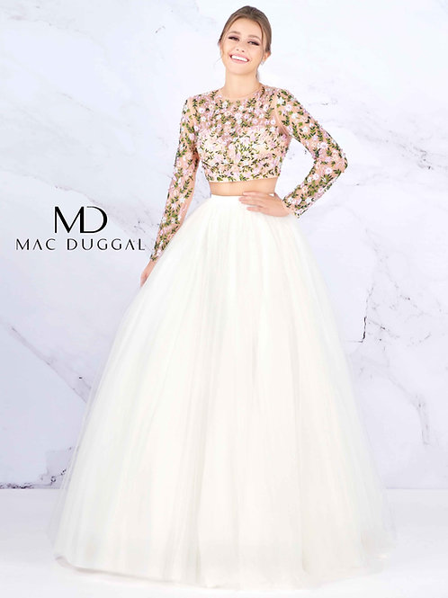 Mac Duggal Style# 50526H WhiteMulti