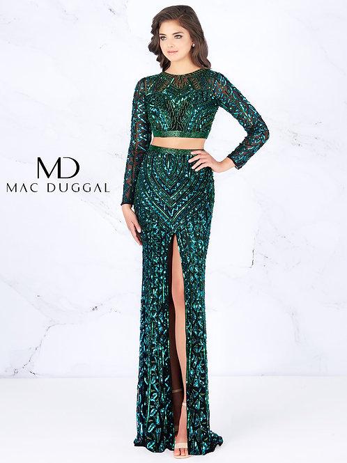 Mac Duggal Style# 4925A BlackEmerald