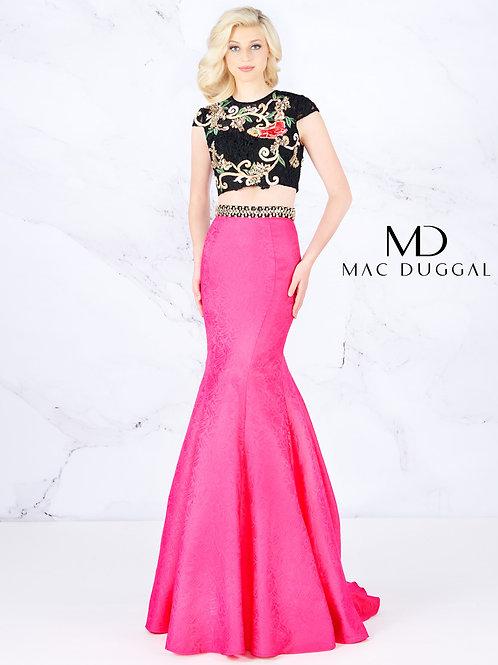 Mac Duggal Style# 40904A-HotPinkBlack