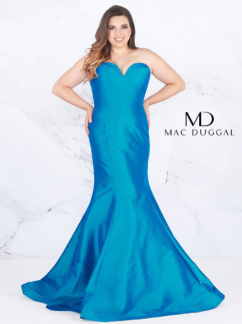 Mac Duggal Style# 67606F Peacock