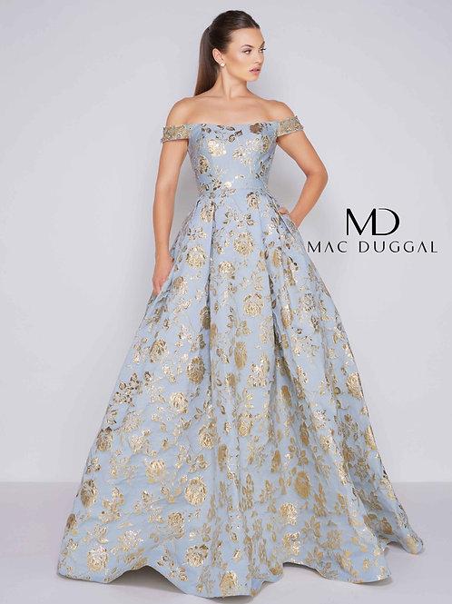 Mac Duggal Style# 40893H-GoldenBlue-CL