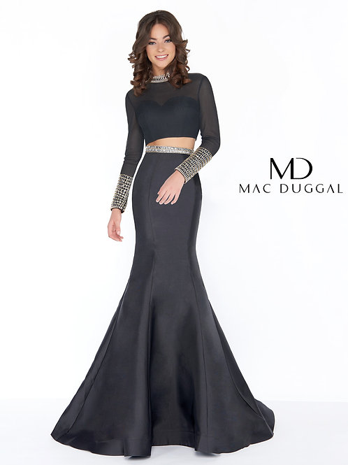 Mac Duggal Style# 66352A Black