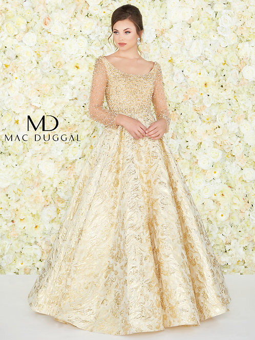 Mac Duggal Style# 66932D Gold Couture