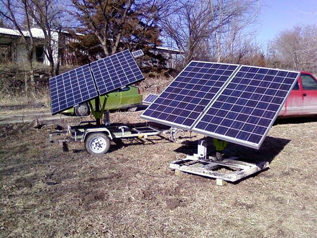 More Portable Dual Axis Solar Trackers