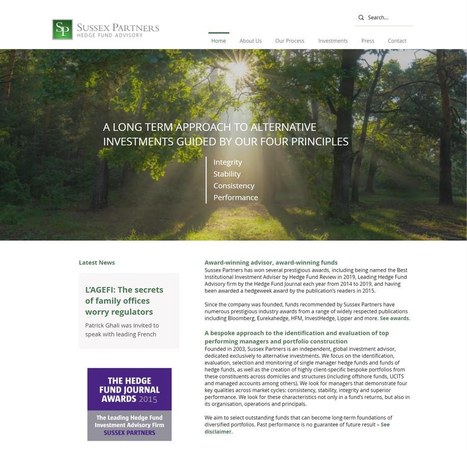 Sussex Partners website