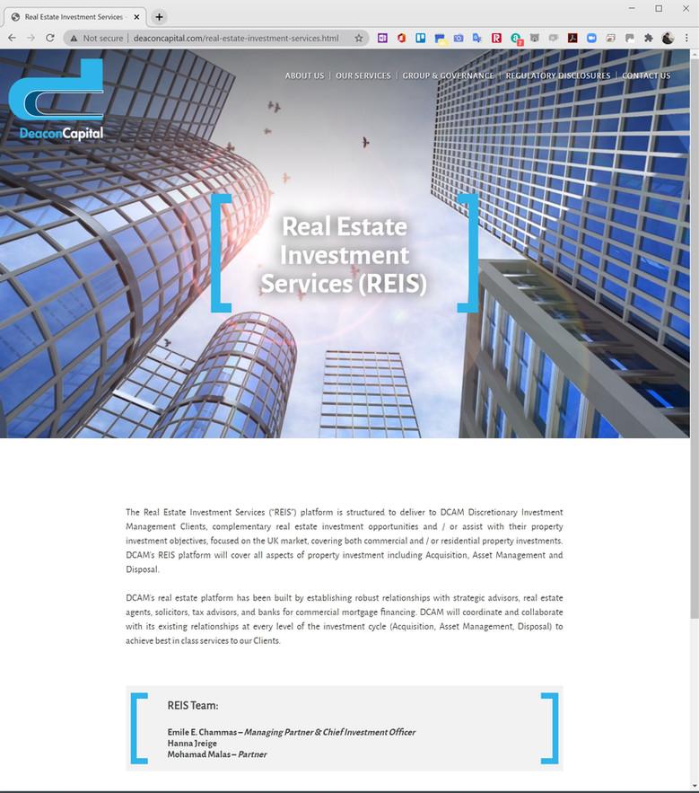 DeaconCapital website build
