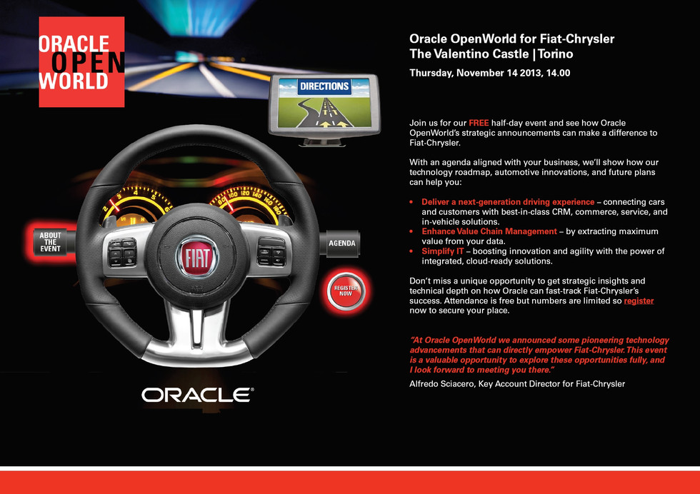 Oracle Open World website