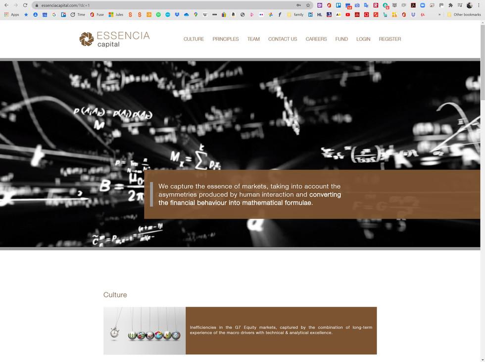 Essencia fund website