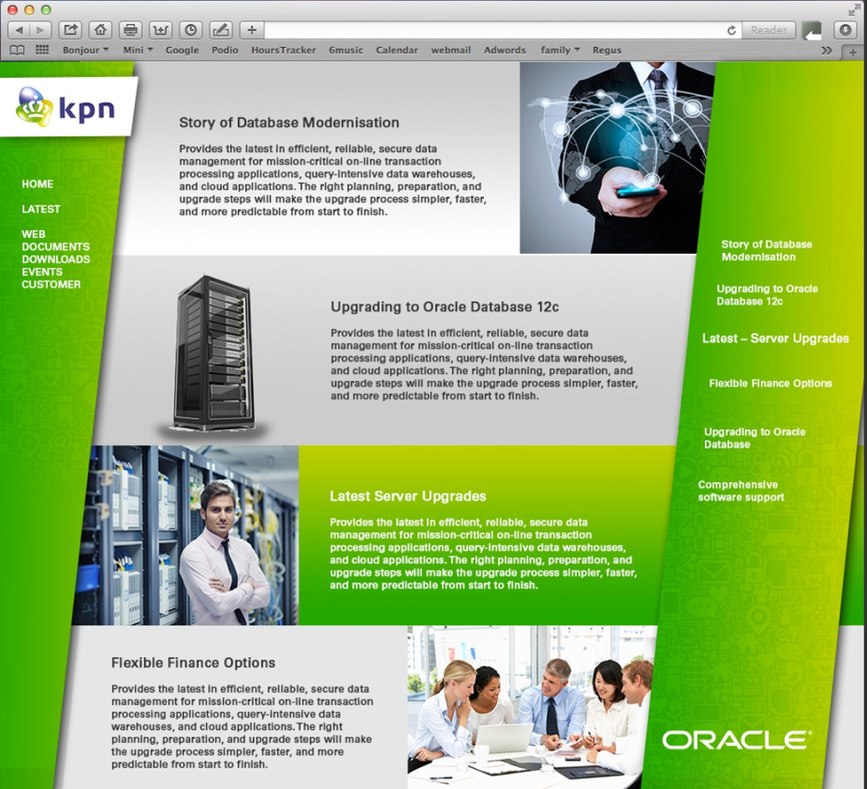 Oracle/kpn website