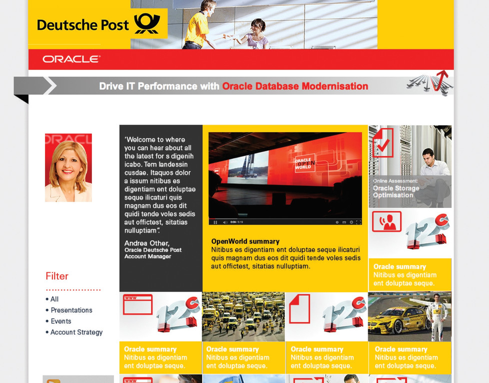 Oracle/Deutsche Post website