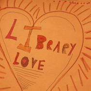 Library Love card drawn by child