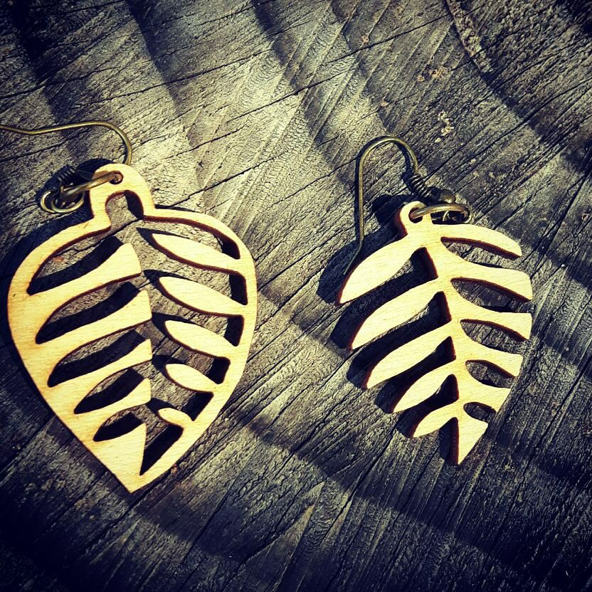 Puzzle Leaf Earrings