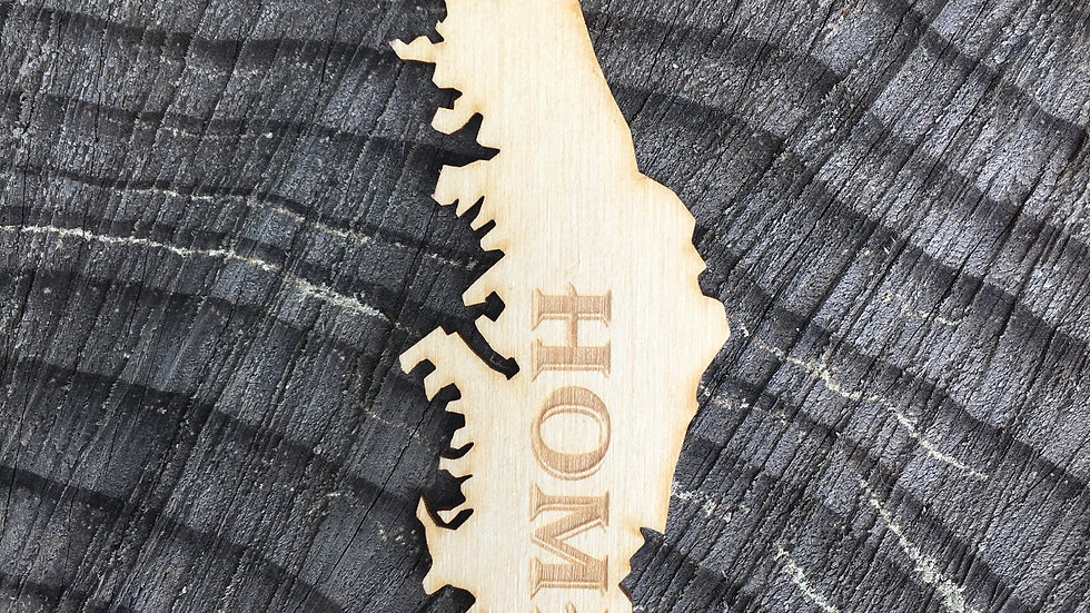 Island with 'Home' Car Charm