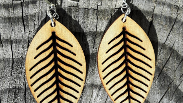 Elm Leaf Earrings