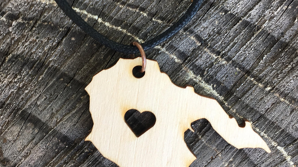 Hornby Island with Heart Pendant