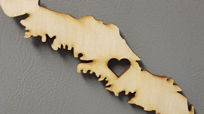 Magnet- Vancouver Island with Heart