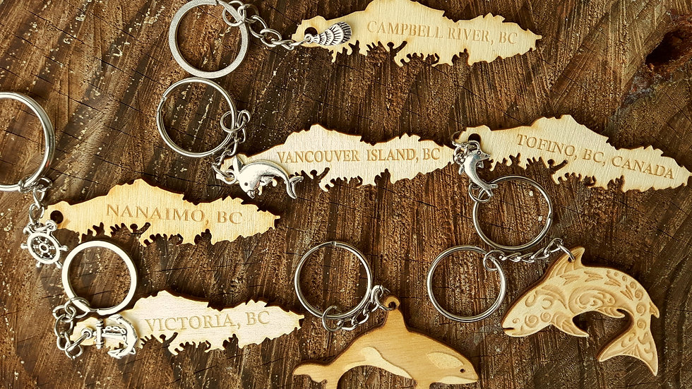 Vancouver Island Themed Keychains