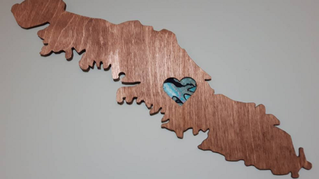 Vancouver Island with Fabric Heart Wall Piece