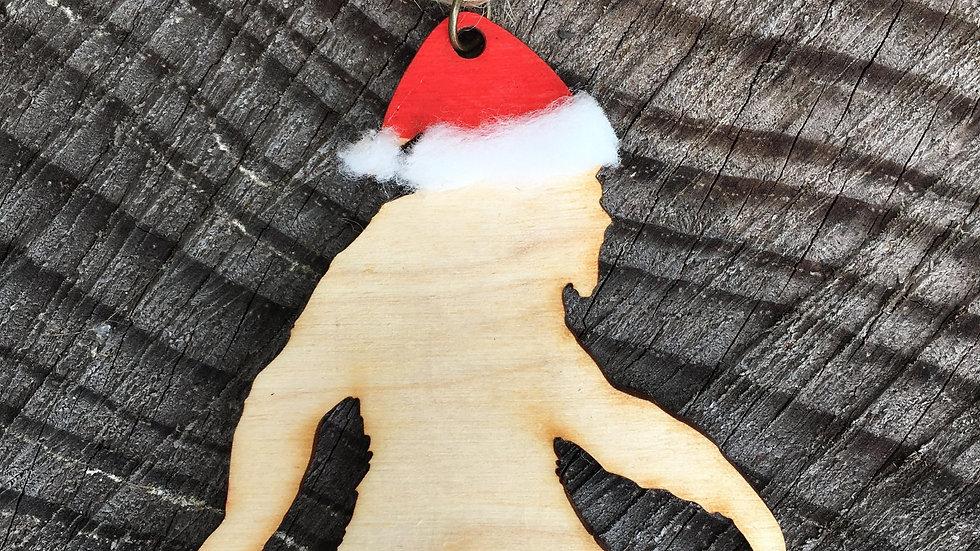 Sasquatch Santa Christmas Ornament