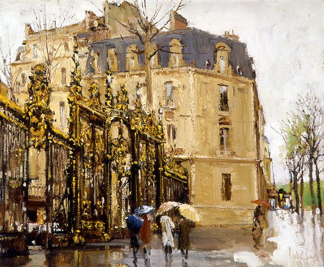《春雨中的巴黎》