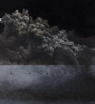 10.吳尚邕《交織著,以某種距離(六)》100x150cm,布面綜合媒材,201