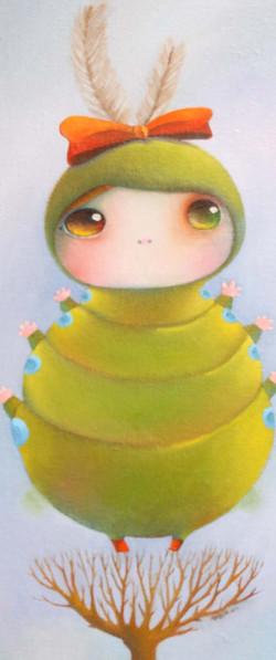 冉綾珮《標本系列-毛蟲》