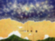 有洞15-陡梯子的舞台劇  油彩、壓克力、畫布  145.5×112.0cm 2