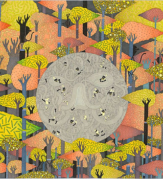 LW058《黃色關係》80x110cm,複合媒材,2015.jpg