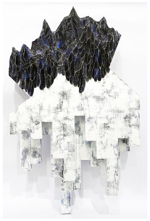 水谷篤司《被奪走的風景2》90x50x9cm,綜合媒材,2018