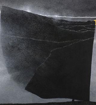 03.吳尚邕《重疊著,片片段段》100x100cm,布面綜合材料,2014.jp
