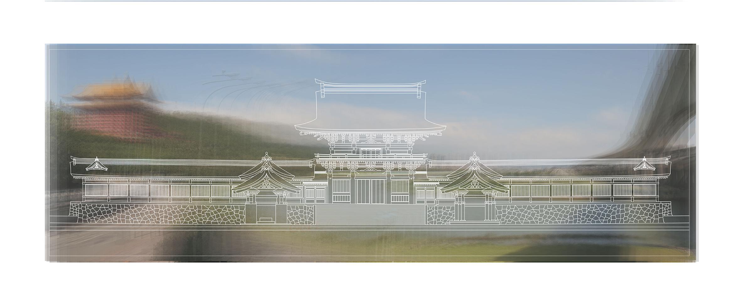 陳飛豪《台灣神宮檔案重構計劃:南神門與基隆河畔|Reconstruction of Taiwan Grand Shrine archives South Holly Gate and Keelung