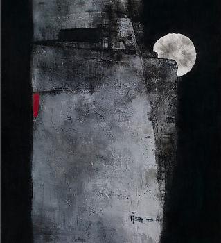 15.吳尚邕《四分之三圓滿》72.5x53cm,布面綜合材料,2013.jpg