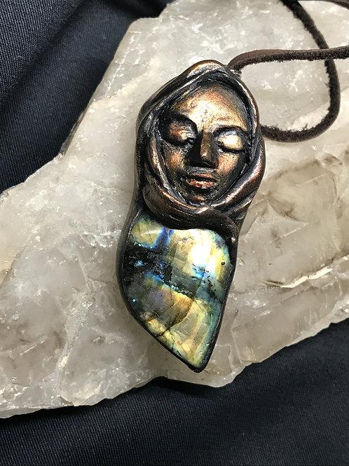 Heart Of The Goddess Labradorite Pendant
