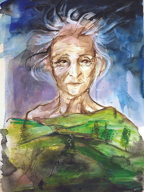 The Crone -Original Painting Oracle of Echoes
