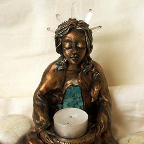 Meditating Goddess Statue