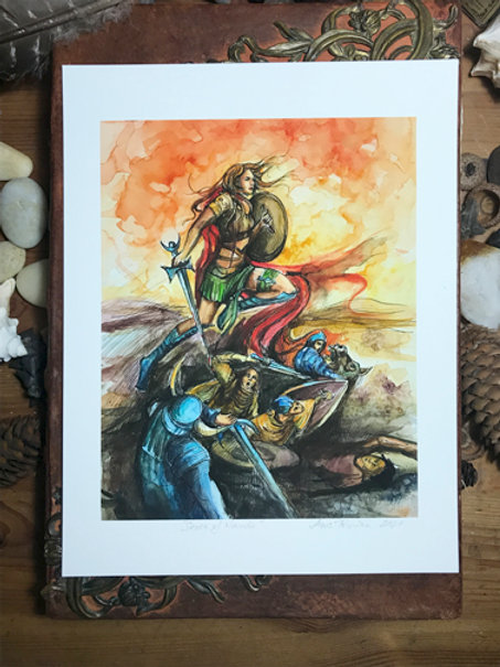 Seven of Wands—Signed 8.5 X 11 Fine Art Giclee photographic print