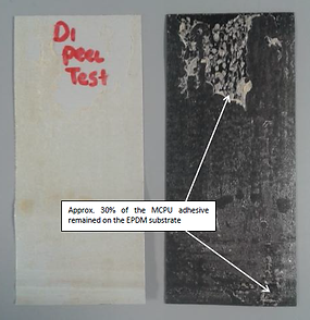 Image showing material peel test