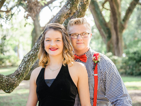 Gracie & Caleb   Saraland Homecoming   Spring Hill College