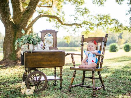 Charlie Beth | 1st Birthday Portraits | Bucks, AL