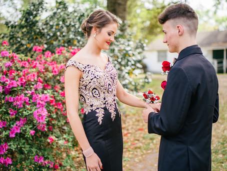 Gracie & Owen | Saraland High School Prom | Charles Wood Japanese Garden