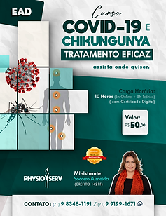 Cartaz - Physioserv - Tratamento de COVI