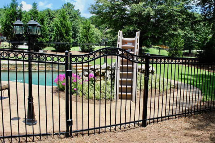 Ornamental Steel with Arched Gate & Ring Accessory