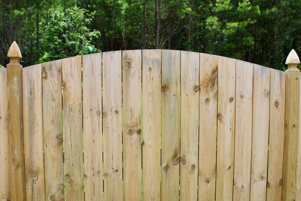 Positive Arched Wood Privacy